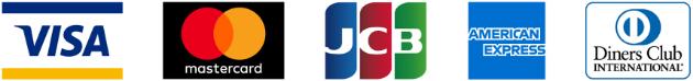 VISA,mastercard,JCB,AMERICAN EXPRESS,DIners Club